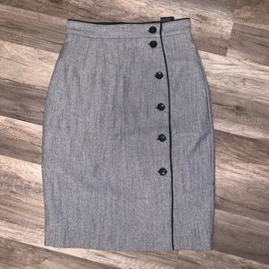 Gray/Black Mid-Length Pencil Skirt Size 2